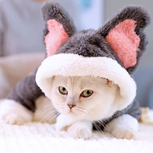 Pet Cat Clothes Winter Suit Warm Soft Coat Outdoor Jacket Hoodie For Cats Cute Koala Outfits Products