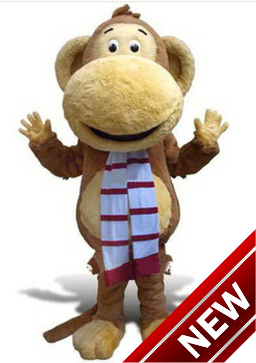 Big Mouth Monkey Mascot Costumes 100% Real Picture Adults Christmas Halloween Outfit Fancy Dress Suit Free Shipping