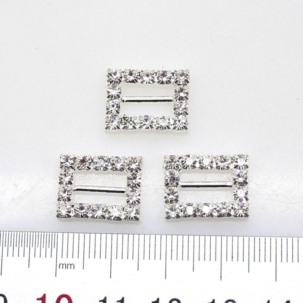 Новинка 2017 года 10 шт./лот 16 * мм 12 мм прямоугольник кристалл горного хрусталя пряжки Приглашение ленты слайдер украшение для пригласительного на свадьбу