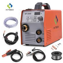 HITBOX Mig сварочный аппарат MIG ARC TIG 220 В из нержавеющей стали сварочный аппарат для железа MT2000 мини функциональный MIG 3 в 1 газ без газа MAG