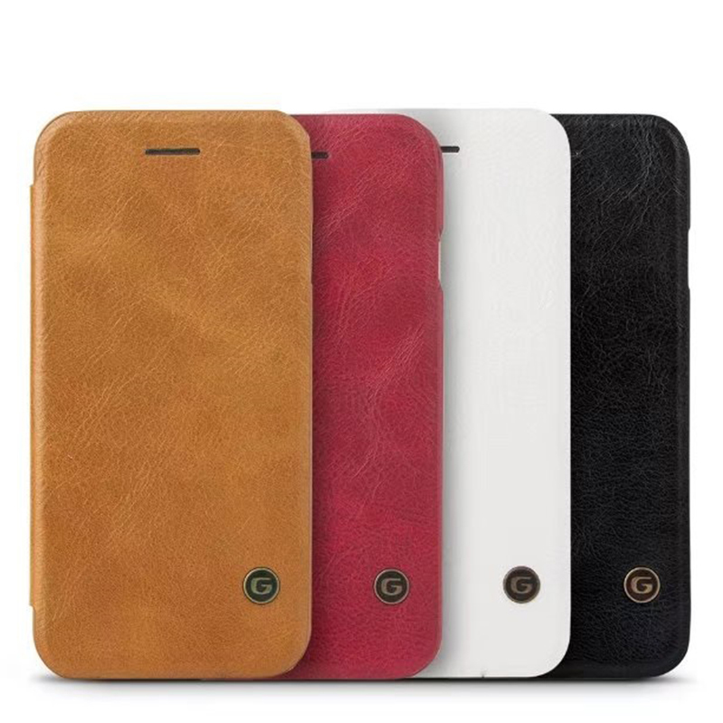 Genuine Leather Flip Case For Samsung Galaxy S8 5 8 Luxury Wallet Card Slot Phone Cover shell Coque For Samsung S8plus in Flip Cases from Cellphones Telecommunications