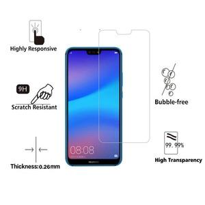 Image 2 - 2pcs מזג זכוכית עבור Huawei P20 לייט זכוכית Huawe P40 אור E P30 P 40 20 פרו P10 בתוספת p9 מיני P8 מסך מגן בטיחות סרט
