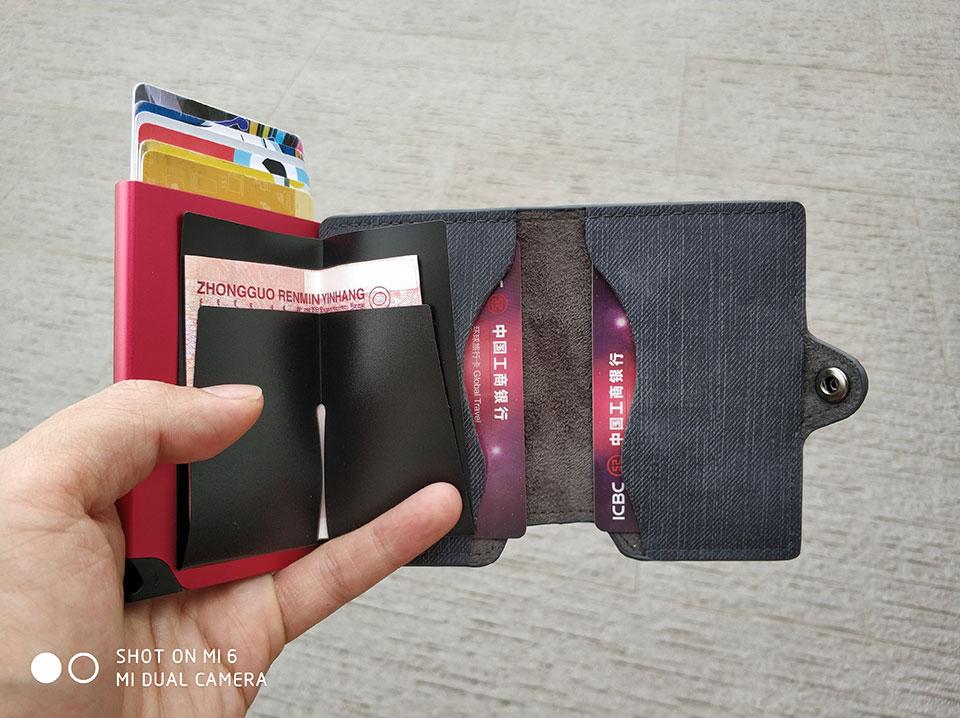 RFID de 2018 nuevo vaquero titular de la tarjeta de crédito Retro ... 4af83845b997