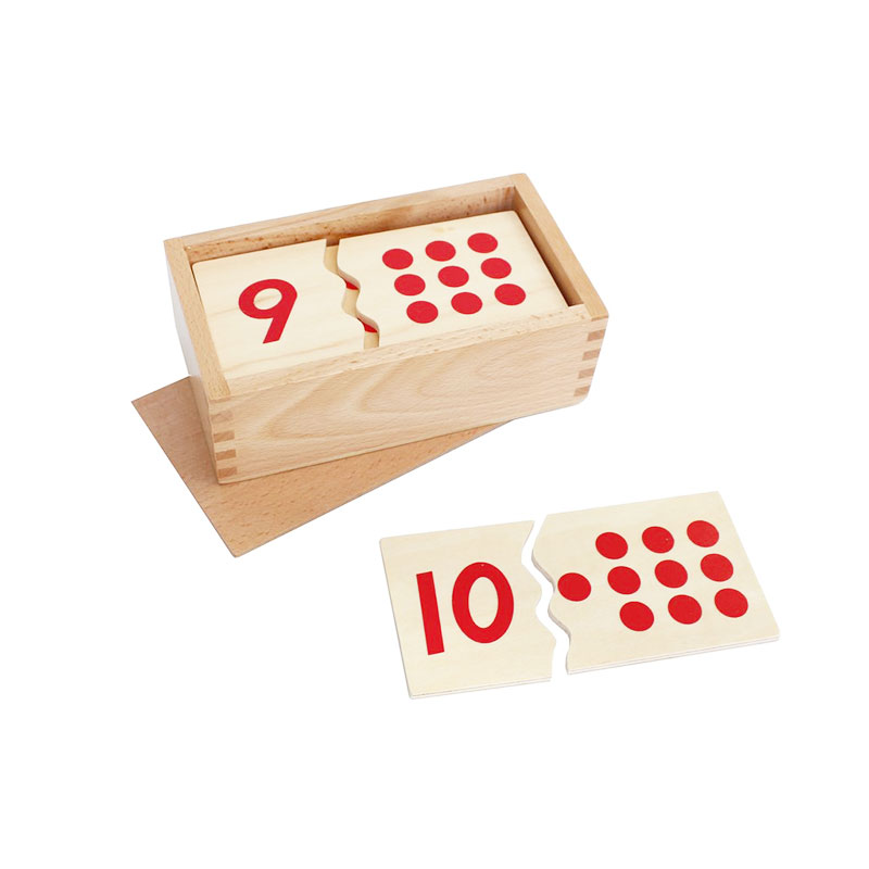 Wooden Montessori Toys Math Number Puzzle 1 To 10 Preschool Educational Learning Toys For 1 2 3 Years Olds Birthday Gift E2164Z