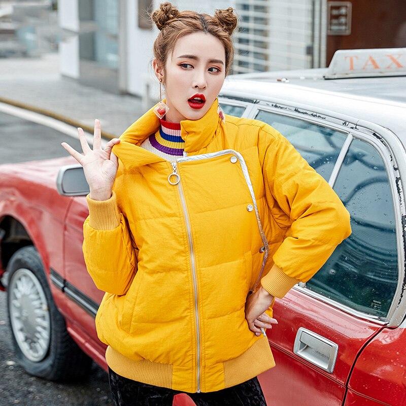 Winter Jacket Women Double-sided Wear   Down     Coats   Slim White Duck   Down   Female Outwear 2019 New Hit Color Print Womens   Down   Jacket