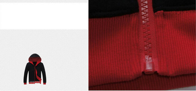 Naruto Uchiha Sasuke Red and Black Sweatshirt Hoodie