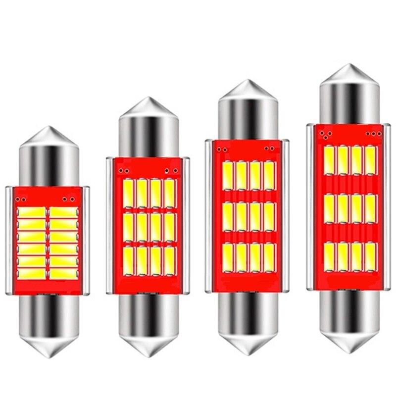 1 шт., Высококачественная супер яркая Автомобильная гирлянда 31 мм 36 мм 39 мм 42 мм C5W C10W 12 SMD 4014, автомобильная купольная лампа, внутренняя лампа ...
