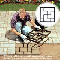 Path Maker Mold Herbruikbare Beton Cement Steen Ontwerp DIY Bestrating Beton Schimmel Tuin Gazon Pad Beton Baksteen Steen Mold