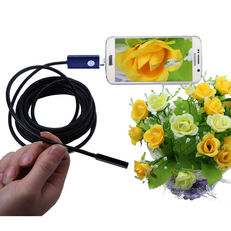 2IN1 7mm Endoscope Snack Pipe Inspection Android Borescope Camera 1m 2m 5m 1.5m 3.5m Waterproof Mini Cctv Usb Endoscope Camera 1m 2m 3 5m 5m ios android wifi endoscope 8mm lens 6 led waterproof borescope inspection camera snake tube pipe mini camera