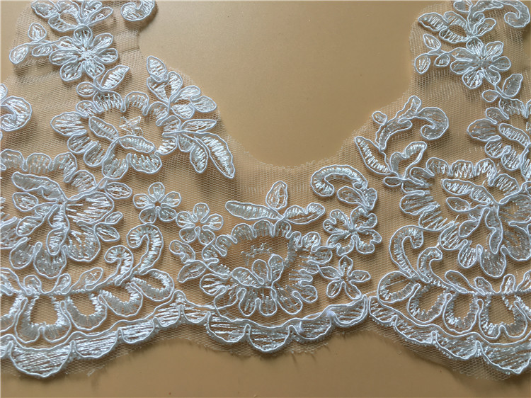 9Yards Floral Embroidery Lace Trim DIY Handmade Venice Lace Accessories Textile Fabrics Wedding Dress Decoration Free Shipping in Lace from Home Garden