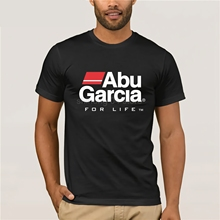 abu garcia decal T-Shirt Men's Clothing size reguler Mens Print T-Shirt nigikala  top tee цена в Москве и Питере
