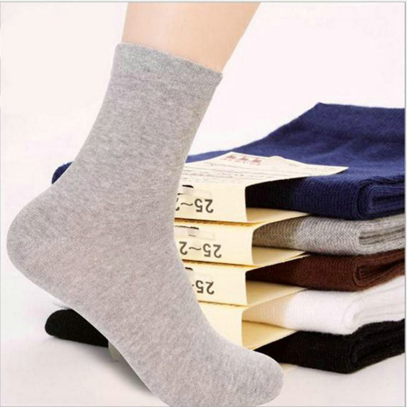 Soft Absorbent Sweat Casual Men Socks Cotton Fiber Classic Business Solid Color Summer Style Polo Calcetines Hombre Weed Socks