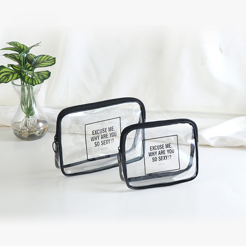 Yesello 1Pcs Transparent Cosmetic Bag Square Shape Portable Zipper Makeup Storage Bags For Travel spark storage bag portable carrying case storage box for spark drone accessories can put remote control battery and other parts