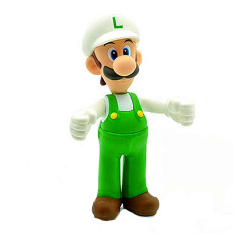 ¡Caliente! Figuras de acción de Mario bros, modelo de juguetes de regalo para niños de 12cm de la colección de Super Mario bro Luigi Fire, Mario