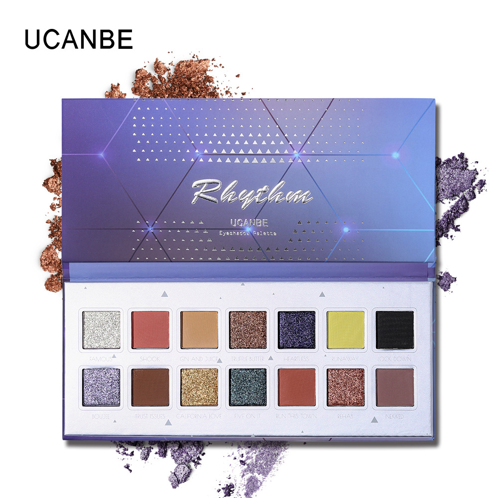 UCANBE Eyes Make Up 14 Color Eyeshadow Palette Long Lasting Shimmer Matte Mixed Eye Shadow Natural Nude