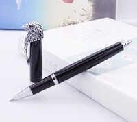 Ручка-роллер Fuliwen Owl, зажим для головы орла с плавным пополнением, уникальный стиль, яркая черная коллекция, подарочная ручка для офиса, бизне...