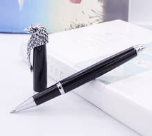Fuliwen Owl Rollerball Pen Eagle Head Clip with Smooth Refill , Unique Style Vivid Black Collection Gift Pen for Office Business high end unique snake rollerball pen creative gift black ink refill 0 7mm business office gift pens with a luxury gift box