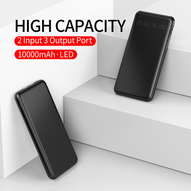 Rock 10000mah 18w PD 3.0 QC 3.0 USB C Quick Charge Power Bank 9v 2A PD3.0 QC3.0 Fast Charging Type C Powerbank Portable Charger 1