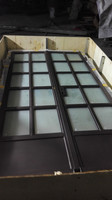 Export tempered Low e single/double glazed exterior wrought iron french doors hench if11
