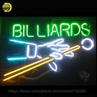Billiards Neon Sign Neon Ánh Sáng Game Phòng Neon Bóng Đèn handmade Glass Ống Quảng Cáo Mang Tính Biểu Tượng Đăng Đèn Cửa Hàng Trưng Bày Trong Kho 17x14
