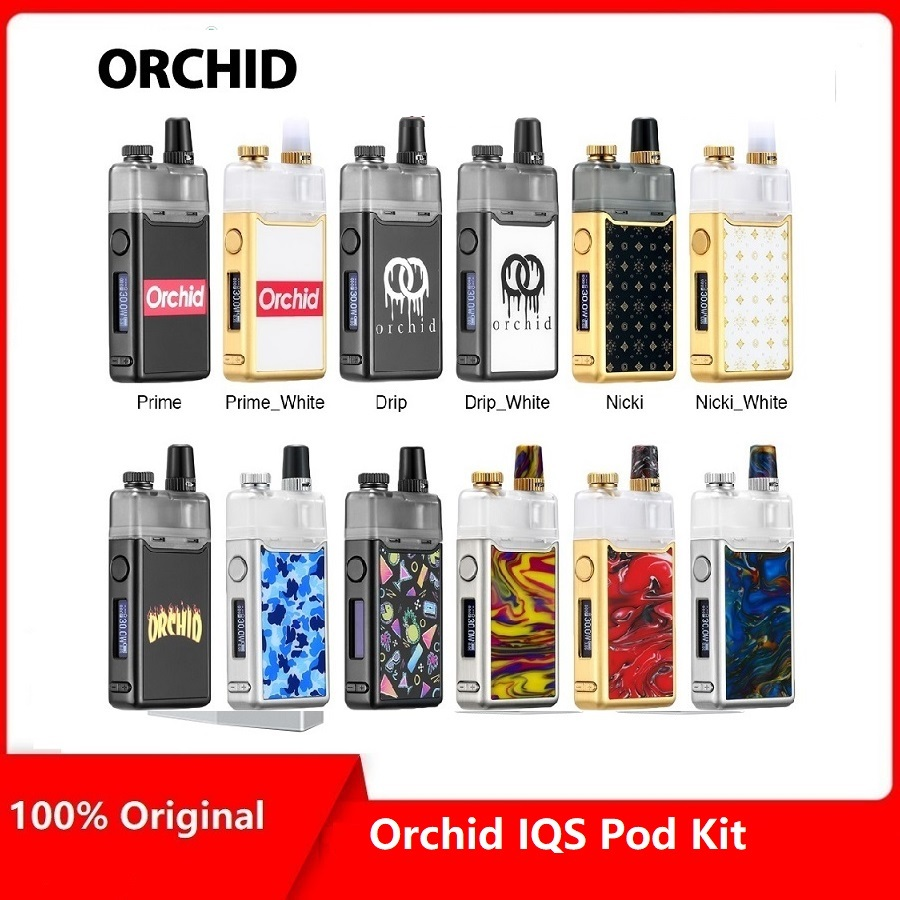 Kit de Vape de gousse d'orchidée IQS de cadeaux lourds avec la batterie 950 mAh et le système de gousse
