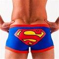 Marca Hombre Sexy Boxeadores de la Ropa Interior Impresión de la Historieta de Superman Boxeador hermosa Mans Ropa Interior Trunk Cueca Algodón Respirable Al Por Mayor de 2017