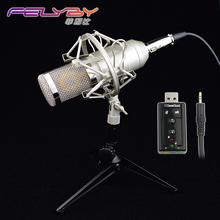 Nouvelle version bm 800 Microphone À Condensateur PC/KTV Pro Vocal Audio Studio KTV Karaoké Microphone + Métal Shock Mount + Métal trépied