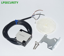 LPSECURITY 4 meters detection gate safety photocell/retro reflective photoelectric sensor/garage door protection