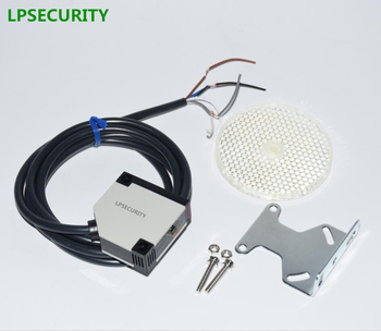 LPSECURITY 4 meters detection gate safety photocell/retro reflective photoelectric sensor/garage door protection - discount item  4% OFF Access Control