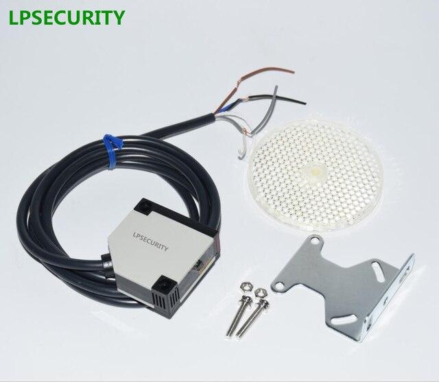 LPSECURITY photocellule de sécurité 4 mètres, capteur photoélectrique réfléchissant, protection pour porte de garage