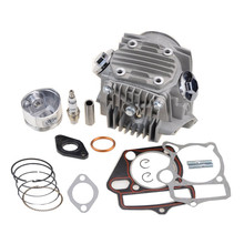 GOOFIT Cylinder Head with Piston and Gasket for 4 stroke 110cc ATV Scooter Dirt Bike Group-106
