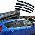 4 pcs Janelas de Ventilação Viseiras Chuva Guarda Sol Escudo Escuro Defletores Para Ford Fiesta 2013