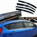 4pcs Windows Vent Visors Rain Guard Dark Sun Shield Deflectors For Ford Fiesta 2013