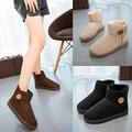 Preço de fábrica Moda Sólidos Ankle Boots para Mulheres Botas de Inverno botas de inverno quente Sapatos Baixos mulher botas mujer botines mujer 2015