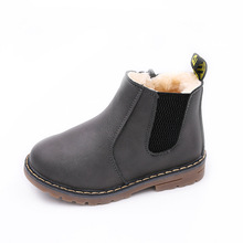 2019New Boys Girls Sneakers Kids Anti-Slippery Child Martin Boots Handmade Leather Toddler Shoes