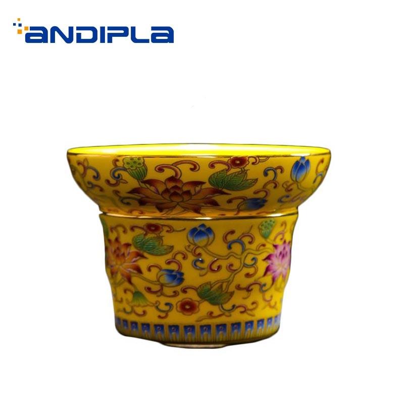 Creative Enamel Color Tea Strainer Ceramic Porcelain Tea Leaves Filter Chinese Kung Fu Tea Set Accessories Coffee  Tea Leak Art