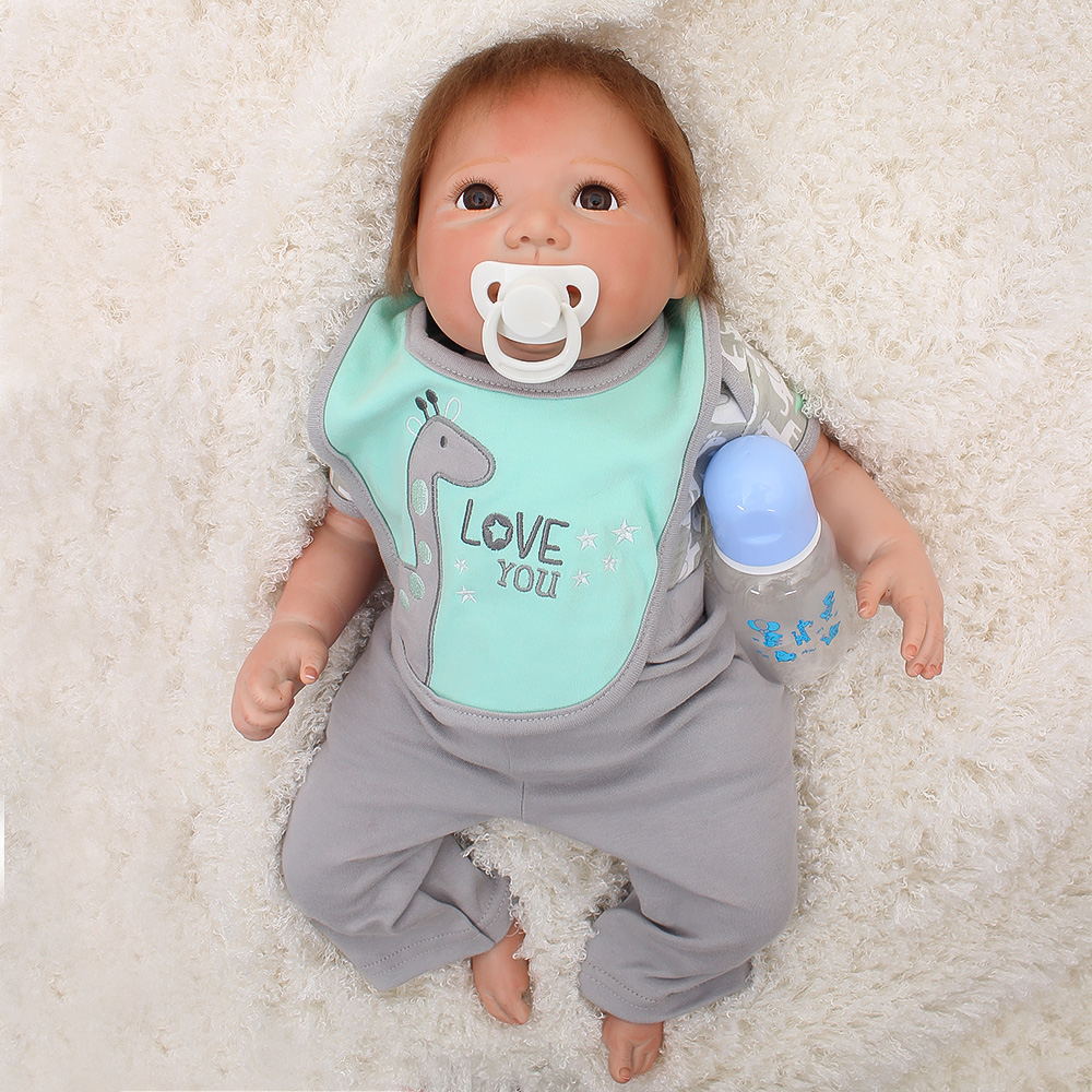 Bebes reborn  2050cm  silicone reborn baby boy doll  kids play house toy dolls gift real alive reborn boneca juguetesBebes reborn  2050cm  silicone reborn baby boy doll  kids play house toy dolls gift real alive reborn boneca juguetes
