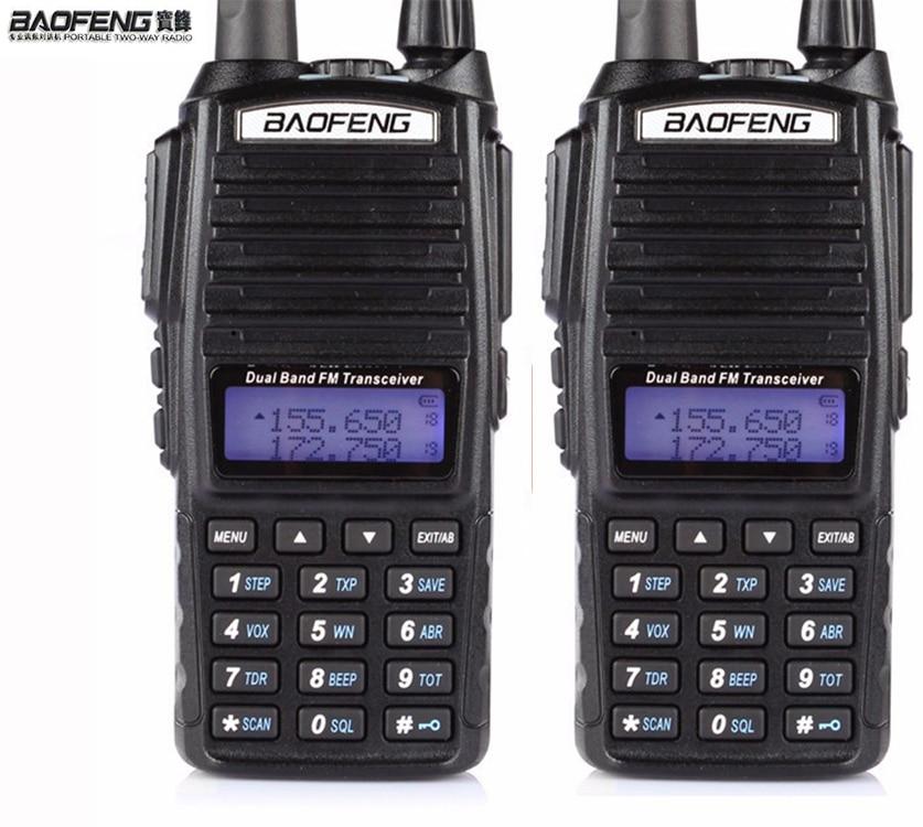 HOT Cheap 2019 2pcs Two 2 Way Radio Dual Band UHF VHF Radio Station Walkie Talkie