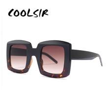 COOLSIR New Retro Square Sunglasses Women 2019 Brand Designer Oversized Sun Glasses Fashion Female Gradient Shades Oculos UV400