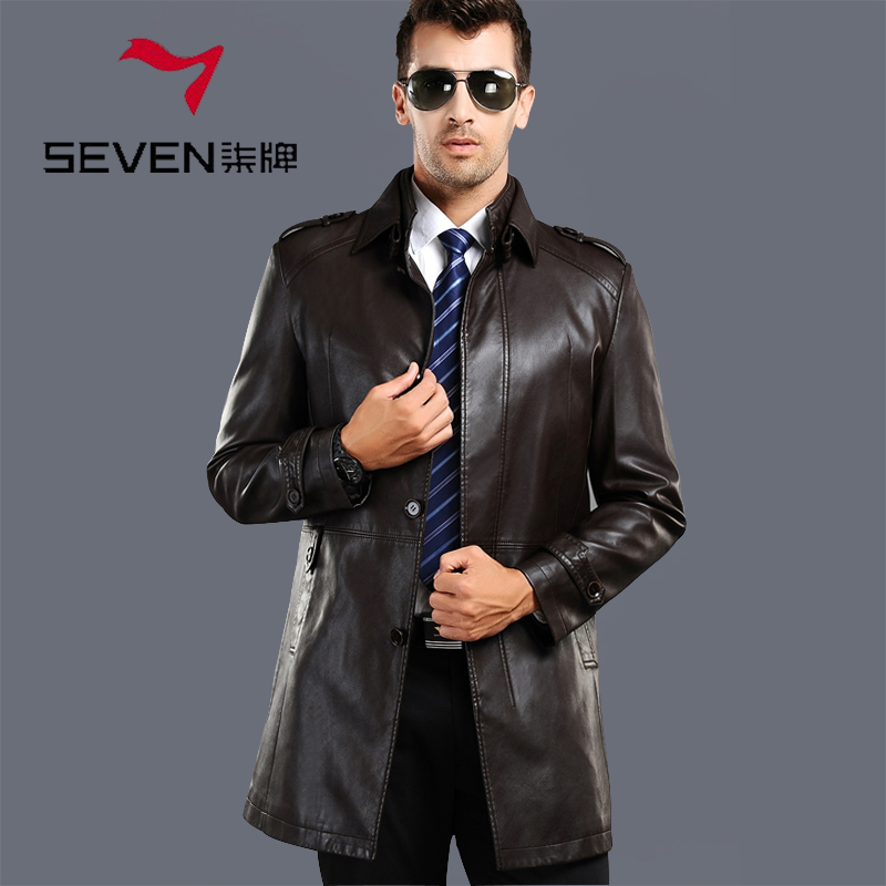 Online Shop Brand SEVEN Male genuine leather coat clothing medium ...