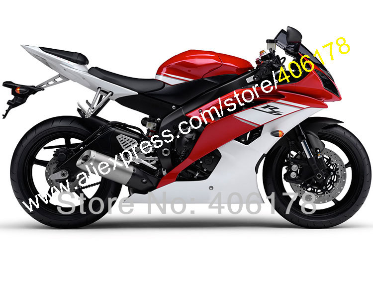 Hot Sales,Injection Mold For Yamaha <font><b>fairing</b></font> Red White <font><b>YZF</b></font> <font><b>R6</b></font> YZFR6 <font><b>2008</b></font> 2009 2012 2014 2015 2016 <font><b>Fairing</b></font> <font><b>Set</b></font> (Injection molding) image