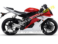 Hot Sales,Injection Mold For Yamaha fairing Red White YZF R6 YZFR6 2008 2009 2012 2014 2015 2016 Fairing Set (Injection molding)