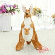 new plush kangaroo toy simulation kangaroo doll gift about 60cm 445
