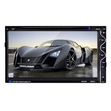 Tiptop HOT 7 Double 2DIN Touch Car Stereo CD DVD Player Bluetooth USB SD AM FM TV Radio 256 Car Styling Free Shipping