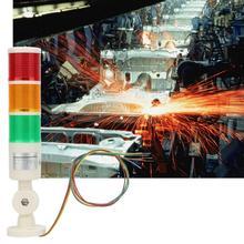 24VDC Warning Light Strobe Red /Orange/Green CNC Machine Warning Light LED Indicator Alarm Signal Light with Buzzer Sound ac220v rotary with buzzer industrial warning light alarm lte 5110