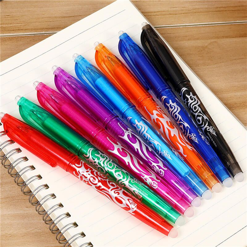 8Pcs/set Erasable Pen Refill 0.5mm 8 Colors Pen