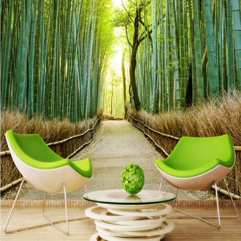 Beibehang 3D Wallpaper Photo Bamboo Landscape 3D Living Room Bedroom TV Background Murals Wallpapers  Wallpaper For Walls 3 D