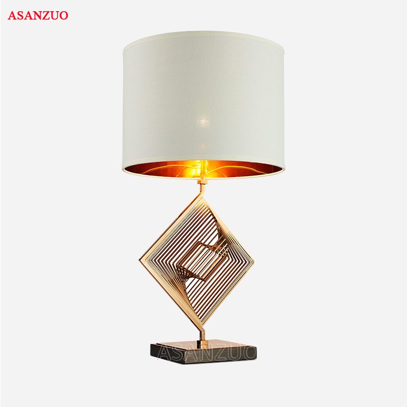 New modern minimalist table lamp Nordic American fashion designer creative living room bedroom cloth & iron table lamp tuda 31x51cm free shipping american style table lamp minimalist design resin table lamp modern dimming table lamp living room