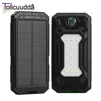 Tollcuudda Solar Mobile Phone Power Bank Cell Pover Portable Charger Battery External Cellphone For Xiao Mi
