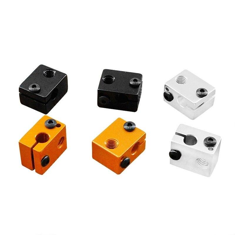 3d imprimante pièces V6 chauffage bloc 20mm x 16mm x 11.5mm en alliage d'aluminium all metal extrudeuse chauffage en aluminium bloc 20x16x11.5
